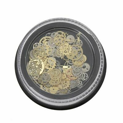 120Pcs Mixed Steampunk Cogs Gear Clock Charm UV Frame DIY Resin Jewelry Fillings