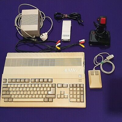 Amiga 500 with Tank Mouse, Joystick, A520 and Upgrade Card