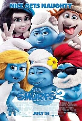 THE SMURFS 2 great original 27x40 D/S movie poster
