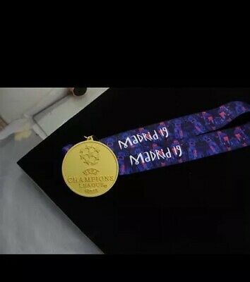 2019 Champions League Winners Medal Rare Liverpool - Gold plated