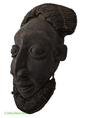 Bamun Mask Raffia Cameroon African Art SALE WAS $275.00
