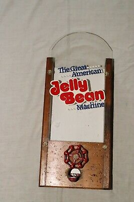 The Great American Jelly Bean Machine Vintage  Candy Dispenser Wooden Frame