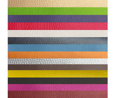 Faux Leather Leatherette Grain Fabric Material A4 or A5 Sheets for Crafts & Bows