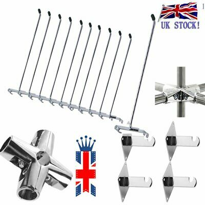 Grid Wall Gridwall Mesh Chrome Retail Shop Display Panel Accessory Hook Arm New