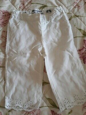 Monsoon Girls white Trousers 7-8 yrs