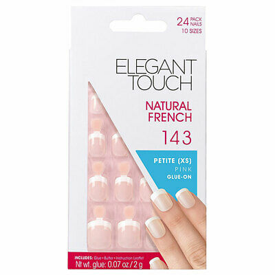 Elegant Touch Natural French Petite Pink Glue On 143