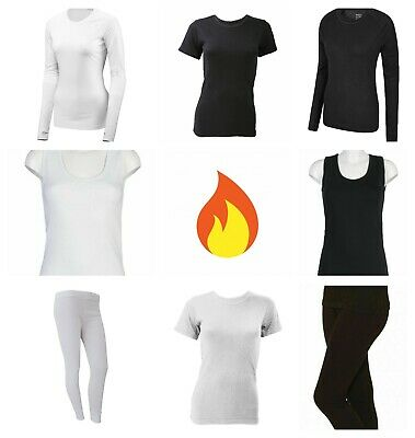 Ladies Warm Thermal Sleeveless Vest T-shirt Long Sleeve Top Long Janes Leggings