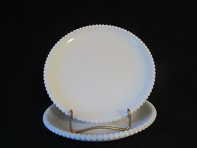"Westmoreland Beaded Edge Plain 2 8 1/4"" Luncheon Coupe Plates Excellent"