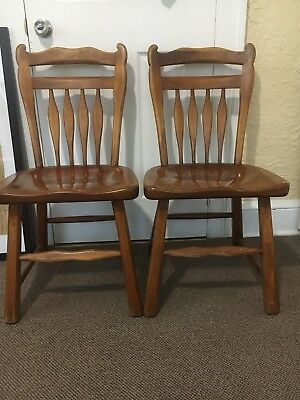 "2 beautiful ""SIKES""Antique Vintage Side Wooden Chair The Sikes Company Chair"