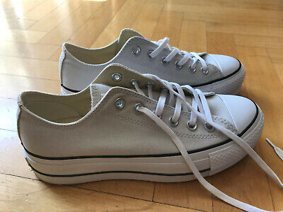 Converse All Star Lift Ox Damen Gr 39 Plateau creme weiß Neu!