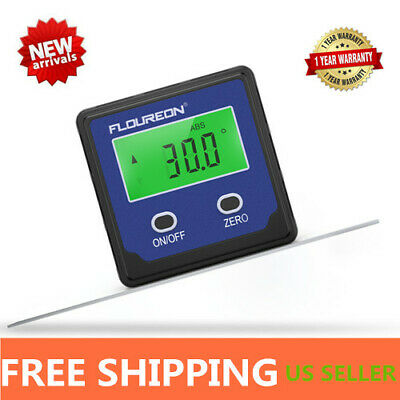 Digital LCD Protractors Gauge Angle Finder Bevel Level Box Inclinometer Meter US