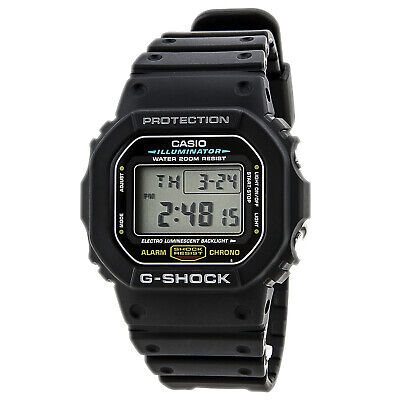 Casio DW5600E-1 Men's G-Shock Digital Black Resin 200M Dive Watch