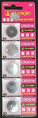 5 CR2016 CR 2016 DL2032 3 Volt Lithium Button Cell Battery EXP 2022 USA SHIP