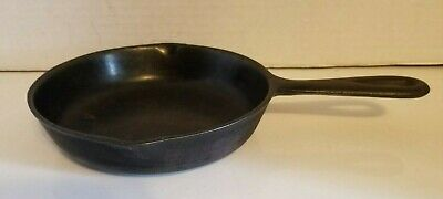 "Antique Cast Iron Skillet 6.5"" No. 3B Fry Pan w/ Heat Ring"