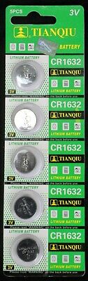 5 CR1632 BR1632 CR 1632 3 Volt Lithium Button Cell Battery EXP 2022 USA SHIP