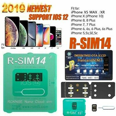 2019 R-SIM RSIM 14 12+ Nano Unlock Card for iPhone X/8/7/6/6s/5S 4G iOS 12.3 Lot