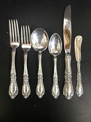 Prince Eugene by Alvin Sterling Silver Flatware Set For 12 Service 78 Pieces