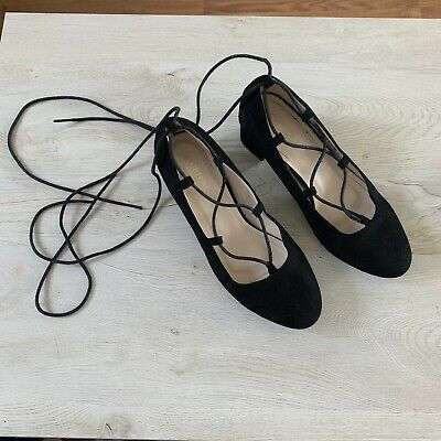 cbcb366fe Catherine By Catherine Malandrino Black Staceey Lace Up Heels Size 8