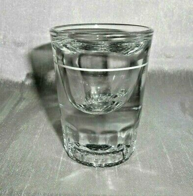 Vintage Libbey White Line Shot Glass Thick & Heavy