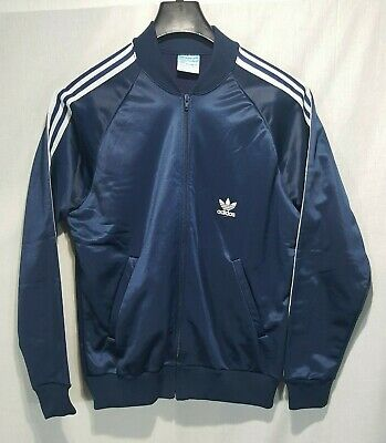 cccefec0bea58 ADIDAS 80'S XL Track Jacket Trefoil Zipper Pull Warm Up Black Gray ...