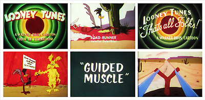 "16mm Sound Film: ROAD RUNNER CARTOON ""Guided Muscle"" (1955) IB TECHNICOLOR"