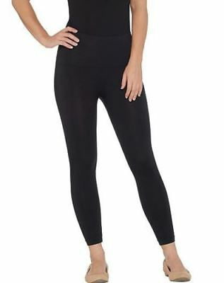 3554519b0c280b Spanx Cropped Look at Me Now Seamless Leggings-288466-Black-Large-NEW