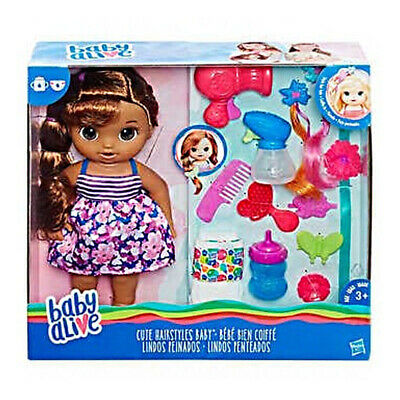Hasbro Baby Alive Ready For Bed Children Brown Hair Baby Doll Kids Girls Toy