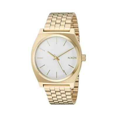 Watch Nixon Unisex A045508-00 Quartz Analogue Only time Steel yellow gold plated