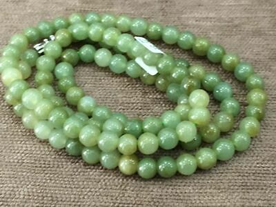 10mm 100/% Natural A Oil Green Emerald Jade Beads ~Necklace Have certificate00002