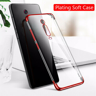 For Xiaomi Mi 9T Pro Mi 9 SE Redmi K20 Slim Rubber Plating Clear Soft Case Cover