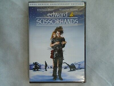 Edward Scissorhands DVD Full Screen Anniversary Edition New Sealed!!