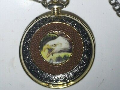 HUMMINGBIRD POCKET WATCH Necklace The Franklin Mint Very