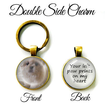 Personalised Double Sided Photo Keyring Cat Dog Pets Memory Loss Be Loved Gifts