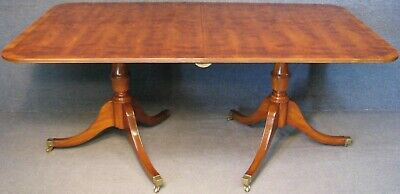 G T Rackstraw Yew Wood Extending Dining Table With Single Leaf