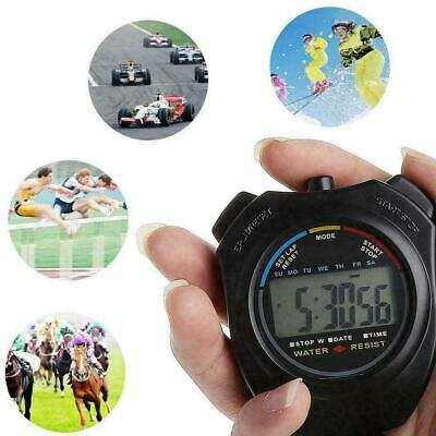 Handheld Stopwatch Digital Chronograph Sport Counter Timer Stop Watch LCD F Y4M4