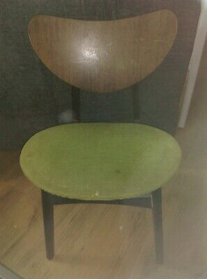 G Plan Chair Retro - Vintage. Green chenille seat with some wear.