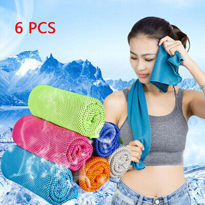 6pcs Breathable Cooling Towel Super Absorbent Cooling Towel For Sports Fitness