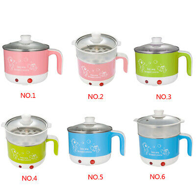 Multi-function 1.8L Mini Electric Skillet Noodle Rice Cooker Cooking Pot Pan