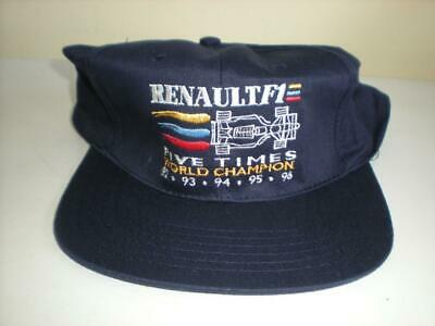 NOS Vintage F1 Cap Formula One Renault 5 Times World Champion 92 93 94 95 96 Hat