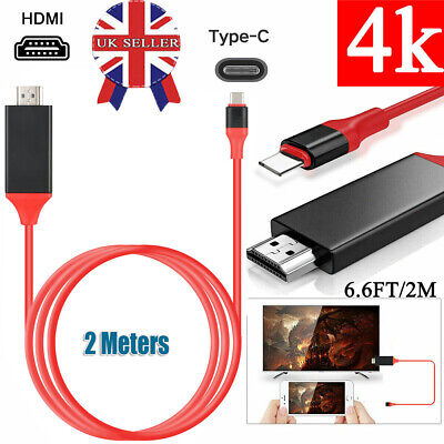 Type C to HDMI HDTV TV Adapter Cable USB Cable for Huawei Samsung Macbook HTC FN