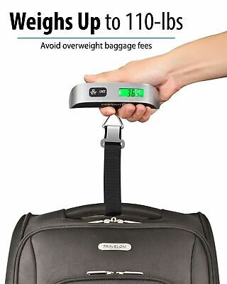 Portable Travel Tare 110lb 50kg Handled Digital Suitcase Hanging Luggage Scale