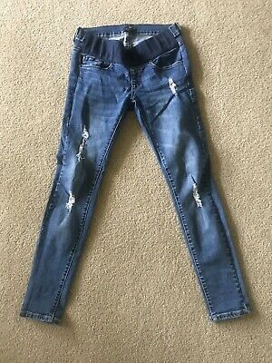 "Soon Maternity Jeans ""blaze""- Size 10 - Blue Denim rrp $139.95 Barely Worn"