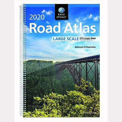 Road Atlas Rand McNally Large Scale Spiral-Bound English 2020 US Travel Map