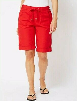 Womens Cargo Shorts Cropped Trousers Combat Ladies Holiday Casual Bermuda 8-24
