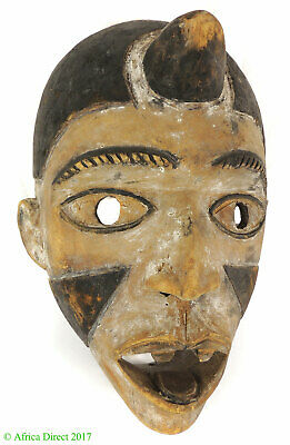 Bakongo Mask Villi Painted White Congo African Art SALE WAS $210.00