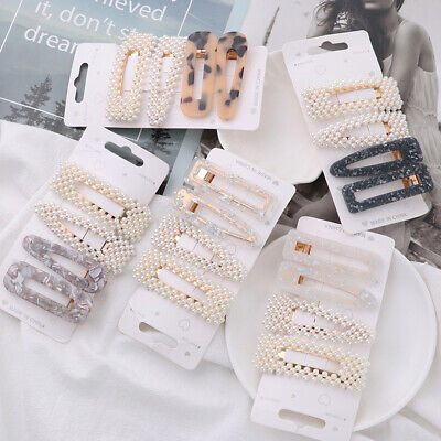 Styling Tools Pearl Hair Clips Barrettes  Acrylic Hairgrip Hairpins BB Clip