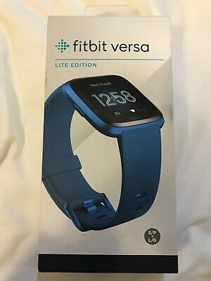 **New! Fitbit Versa Lite Edition | S + L Bands | Marina Blue**