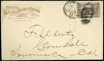 1893 SAN FRANCISCO CDS, Illustrated C/C, PACIFIC WINE & SPIRIT REVIEW, SC #231!