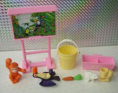 Vintage Barbie 2000 Shelly Kelly Doll's Petting Zoo Accessories & Animals Bundle
