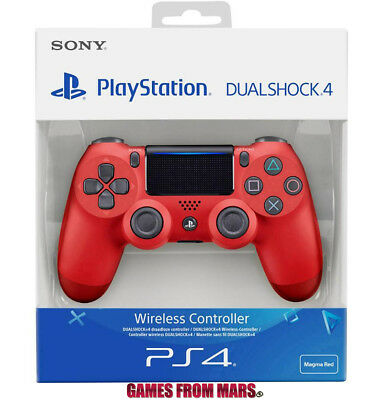 SONY PS4 DUALSHOCK 4 V2 ROSSO NUOVO / Controller Joypad Wireless Magma Red